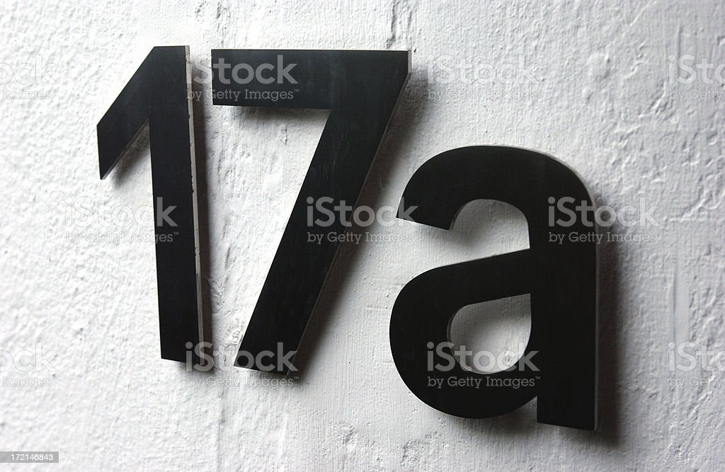 Interior - Numbers royalty-free stock photo