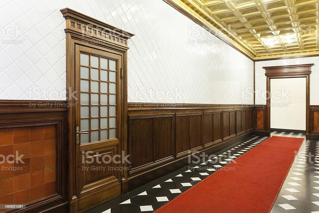 Interior of a beautiful palace stock photo