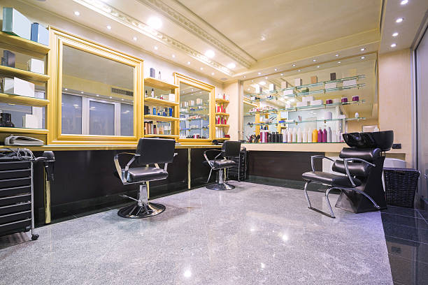 interior of a beauty salon - beauty salon stock photos and pictures