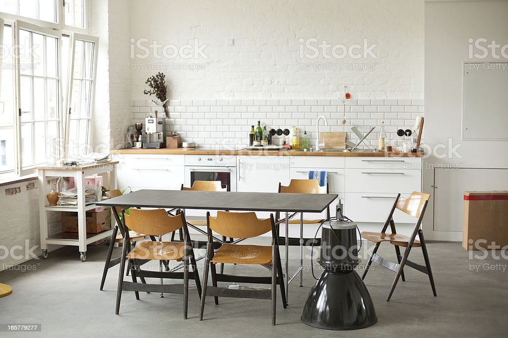 Interior of a Berlin kitchen stock photo