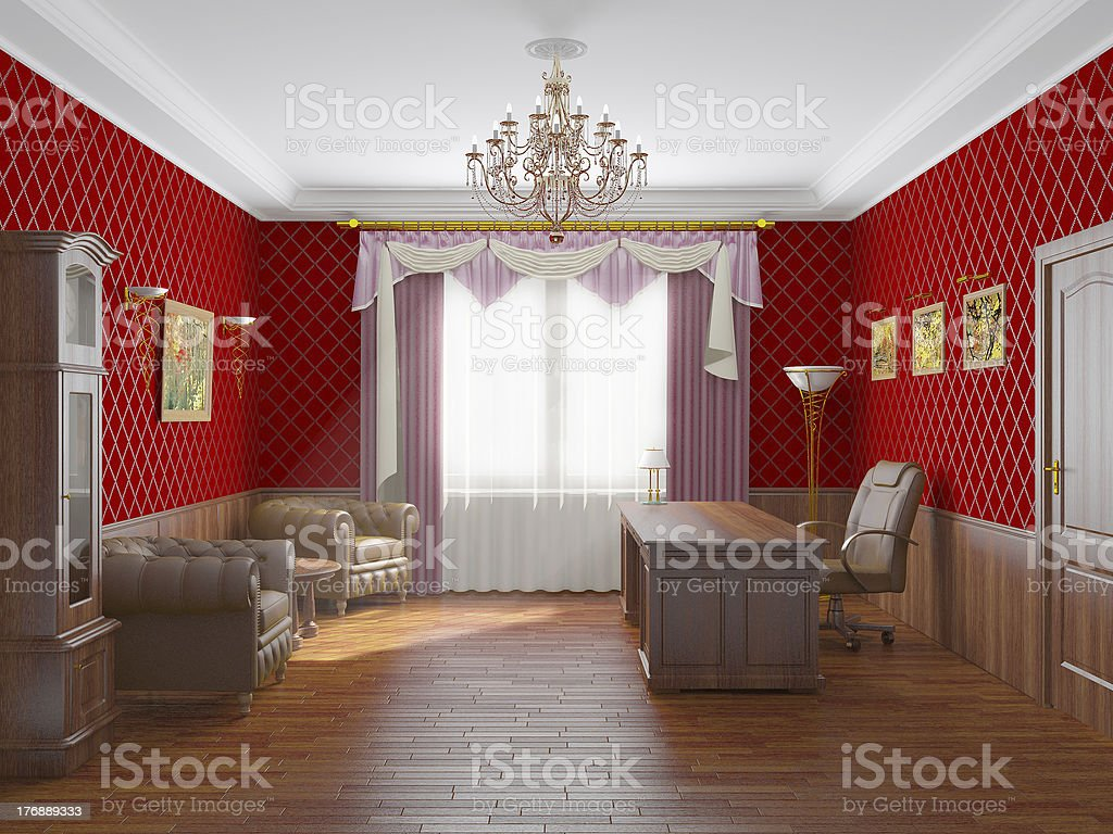 Interior of a cabinet royalty-free stock photo