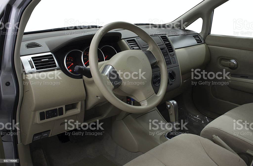 Interior of a car, front panel royalty-free stock photo