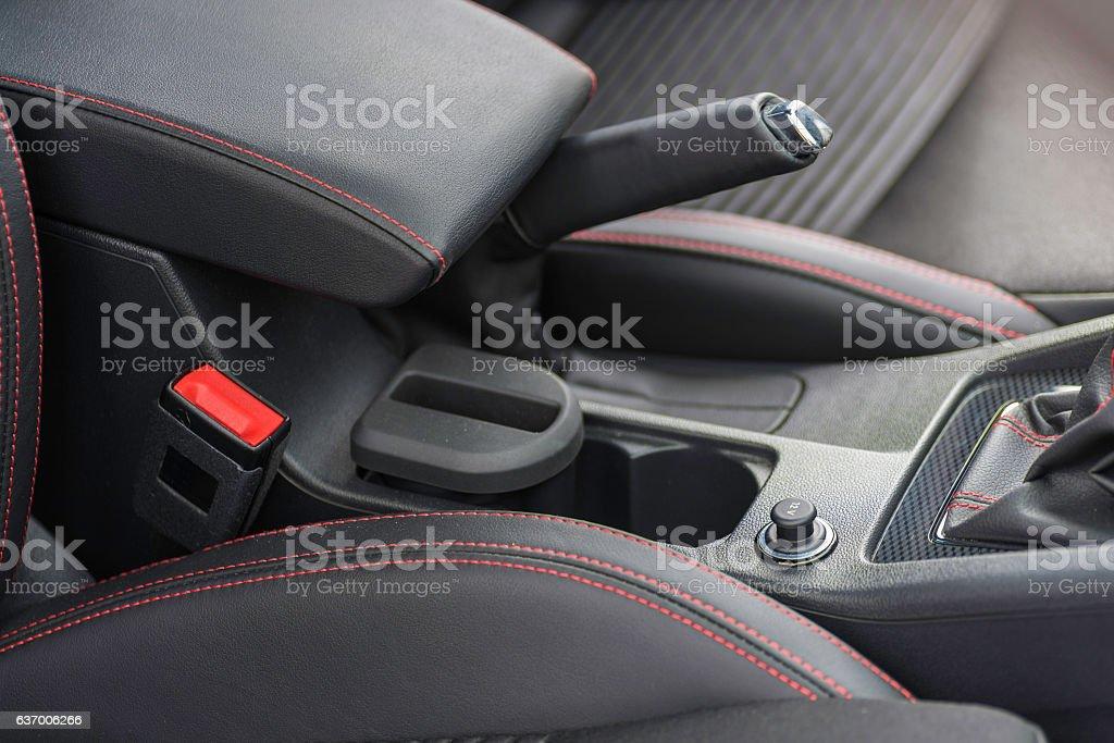 Interior of a car. stock photo