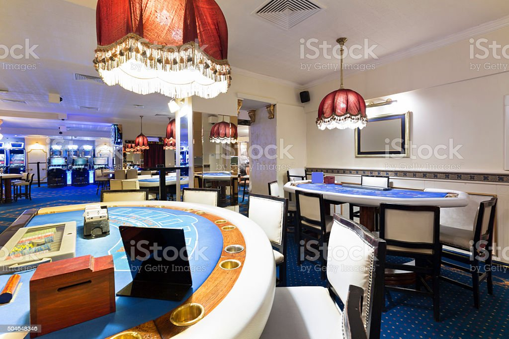 Interior of a casino stock photo