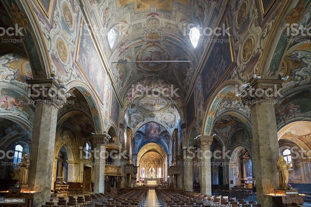 Interno di una cattedrale stock photo