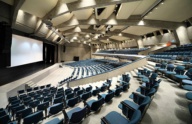 interior of a conference hall - entertainment building stock pictures, royalty-free photos & images