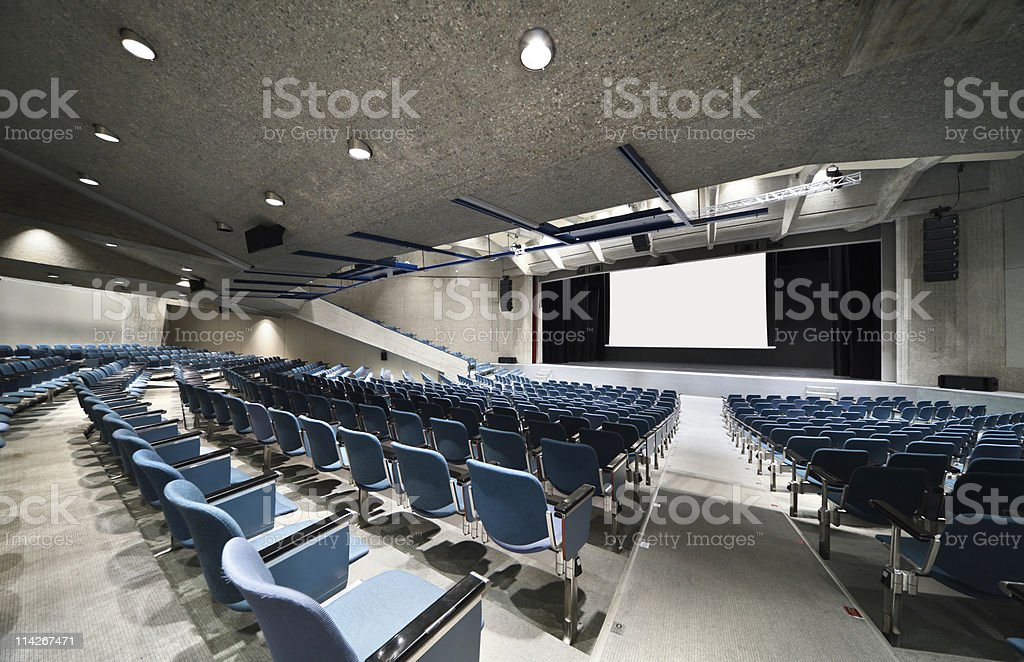 interior of a Congress Palace, audience stock photo