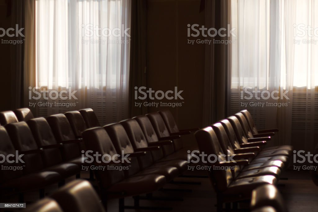 interior of a Congress Palace, audience . royalty-free stock photo