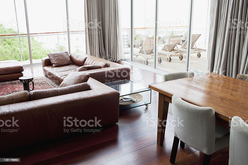 Interior of a contemporary apartment royalty-free stock photo