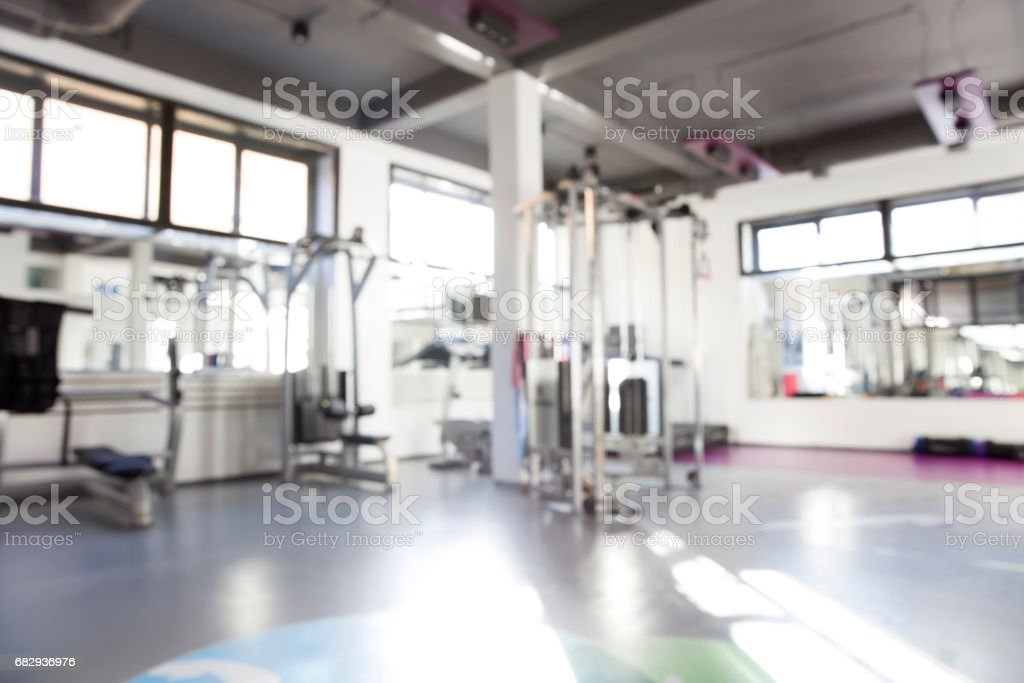 Interior of a fitness hall with sport equipment royalty-free stock photo