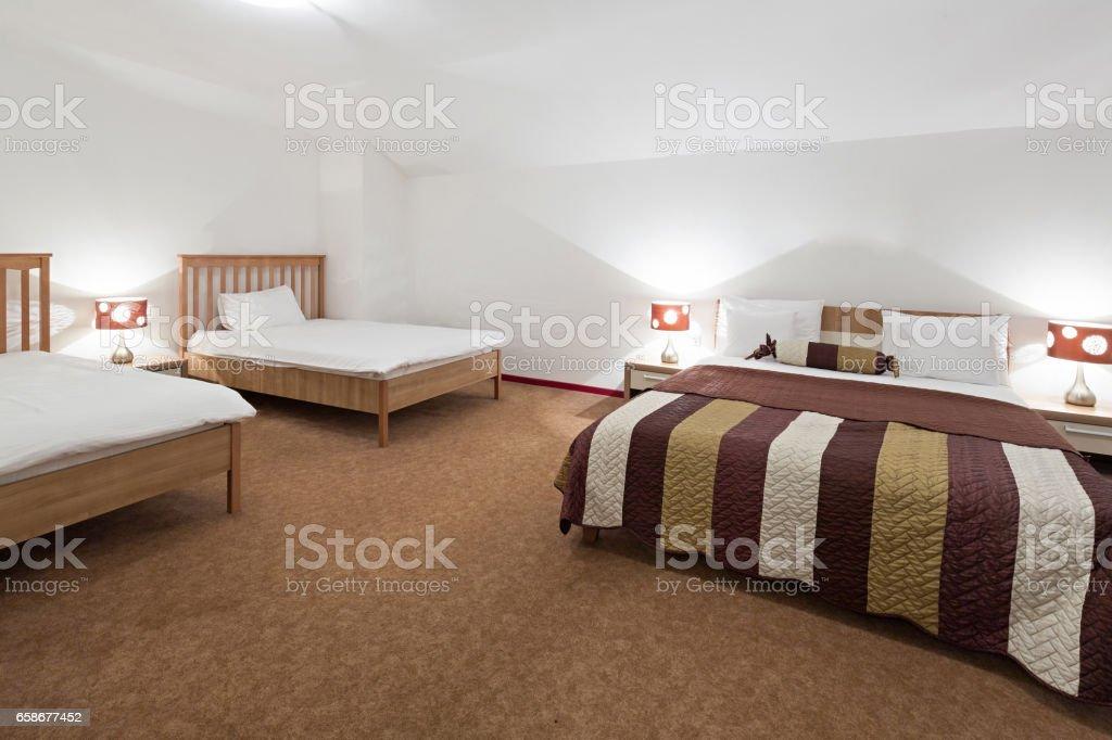 Intérieur d'une chambre d'hôtel - Photo