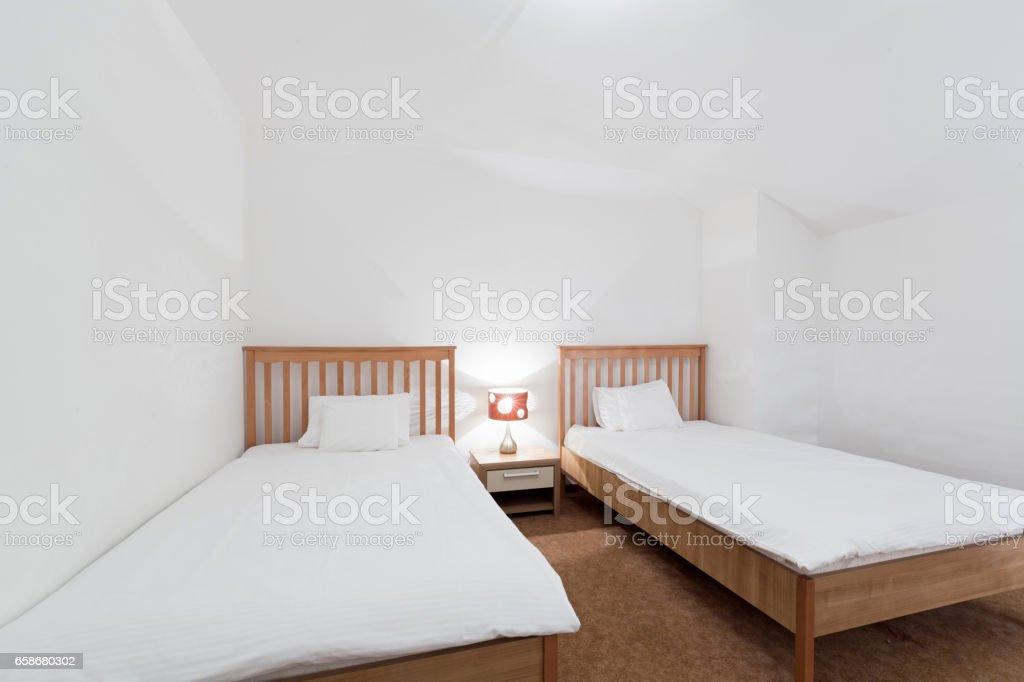 Interior of a hotel bedroom - Photo