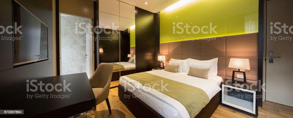 Interior of a hotel bedroom – Foto