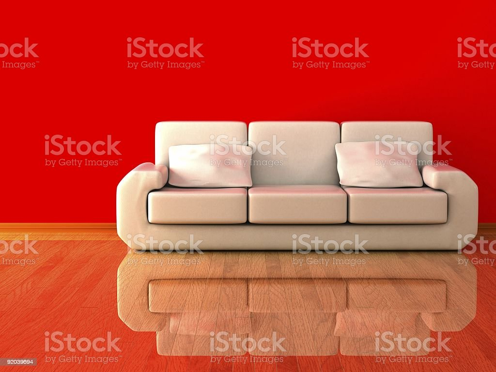 Interior of a living room. 3D image. royalty-free stock photo