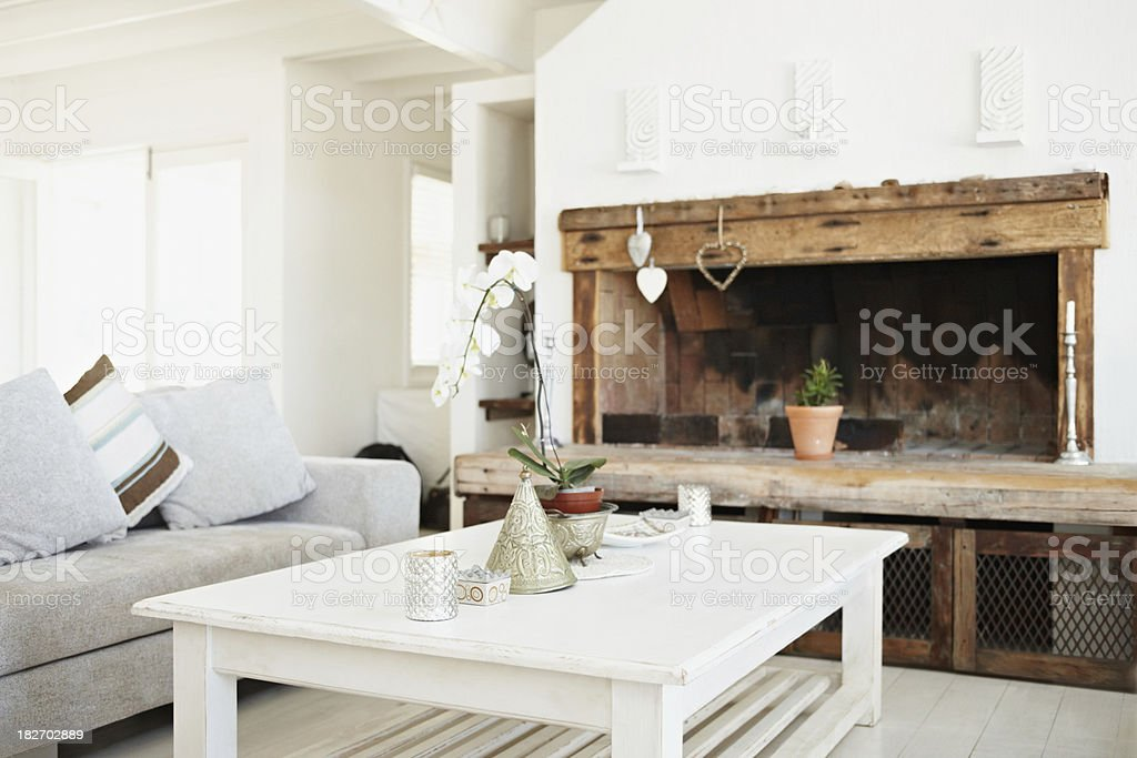 Interior of a living room in modern apartment royalty-free stock photo
