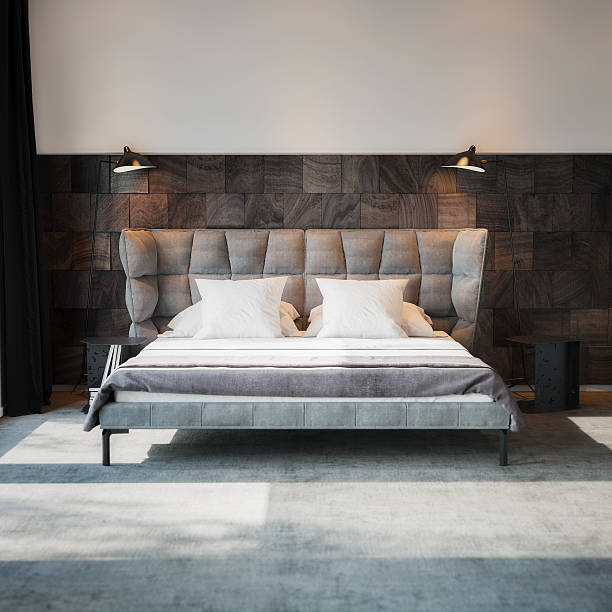 Bett in Luxus-Interieur – Foto