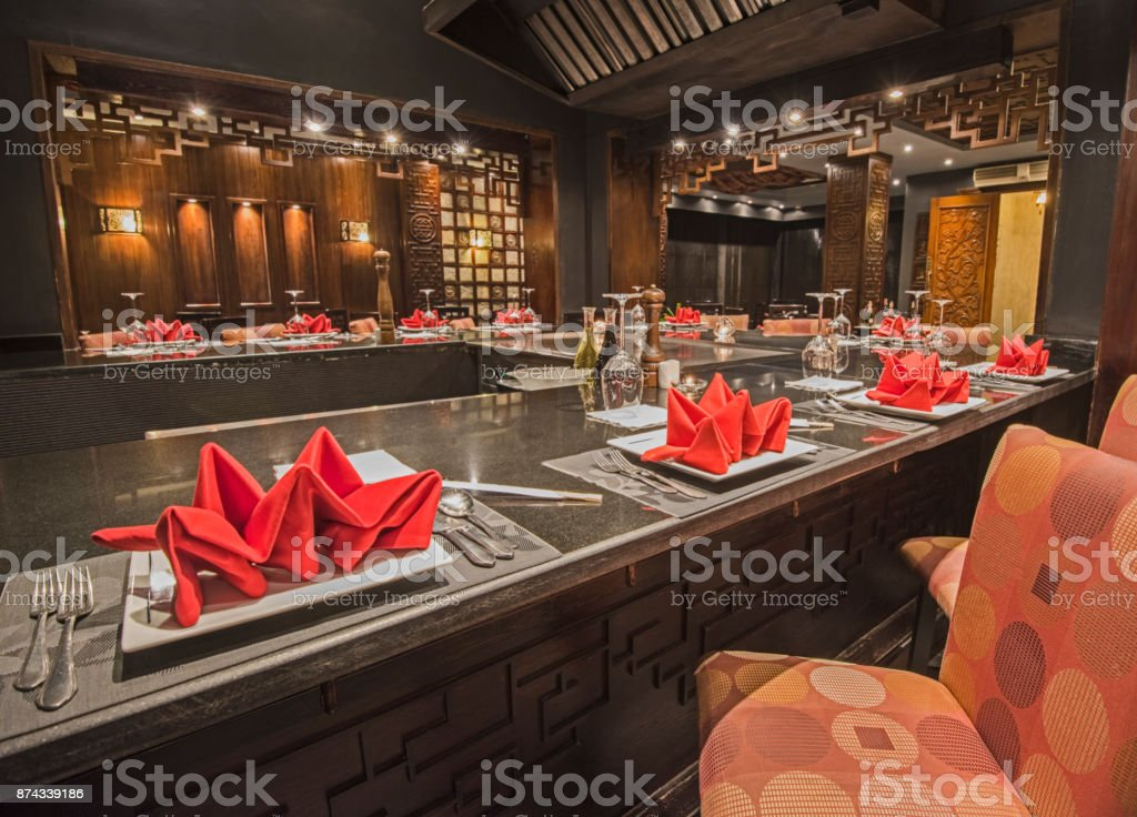 Interior Of A Luxury Hotel Asian Restaurant Stock Photo Download Image Now Istock