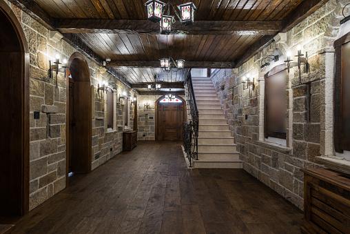 Interior of a luxury house cellar