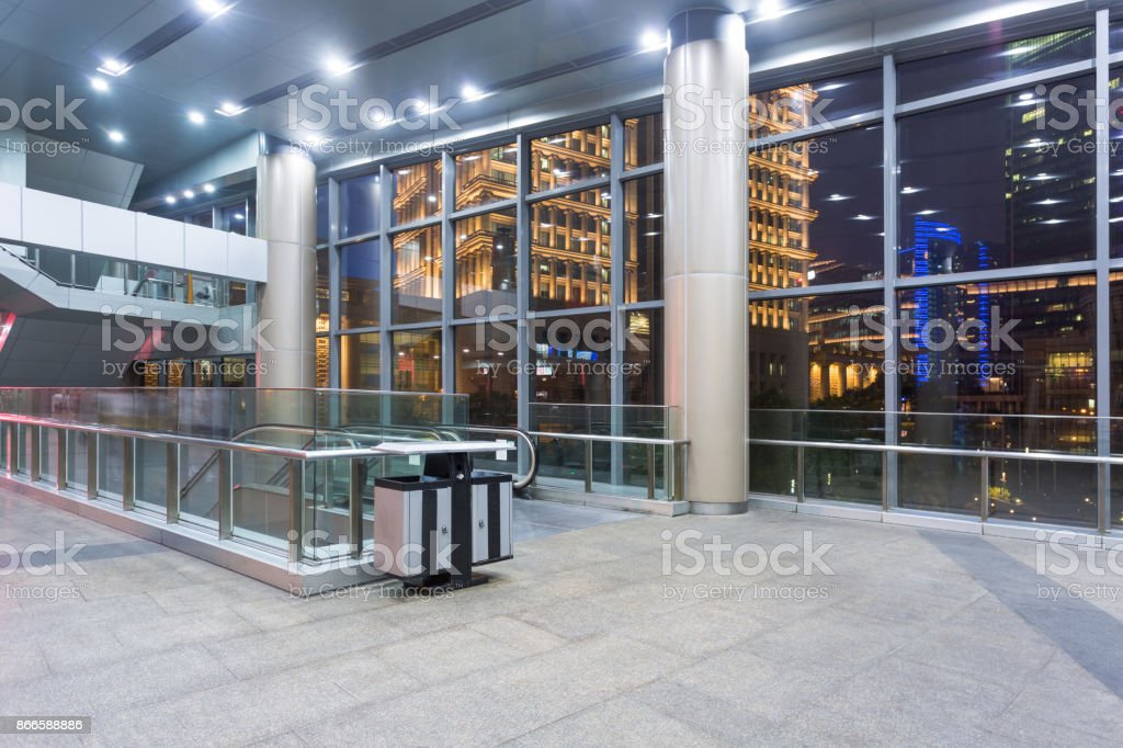 interior of a modern airport stock photo