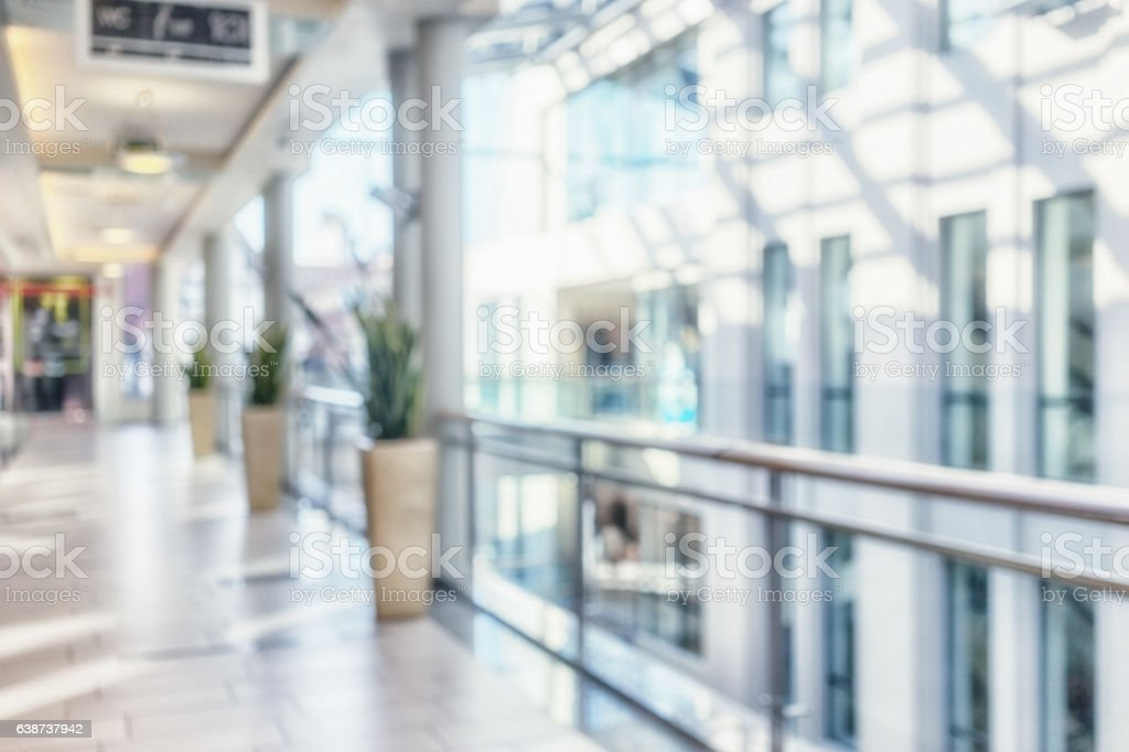 Interior of a modern building stock photo
