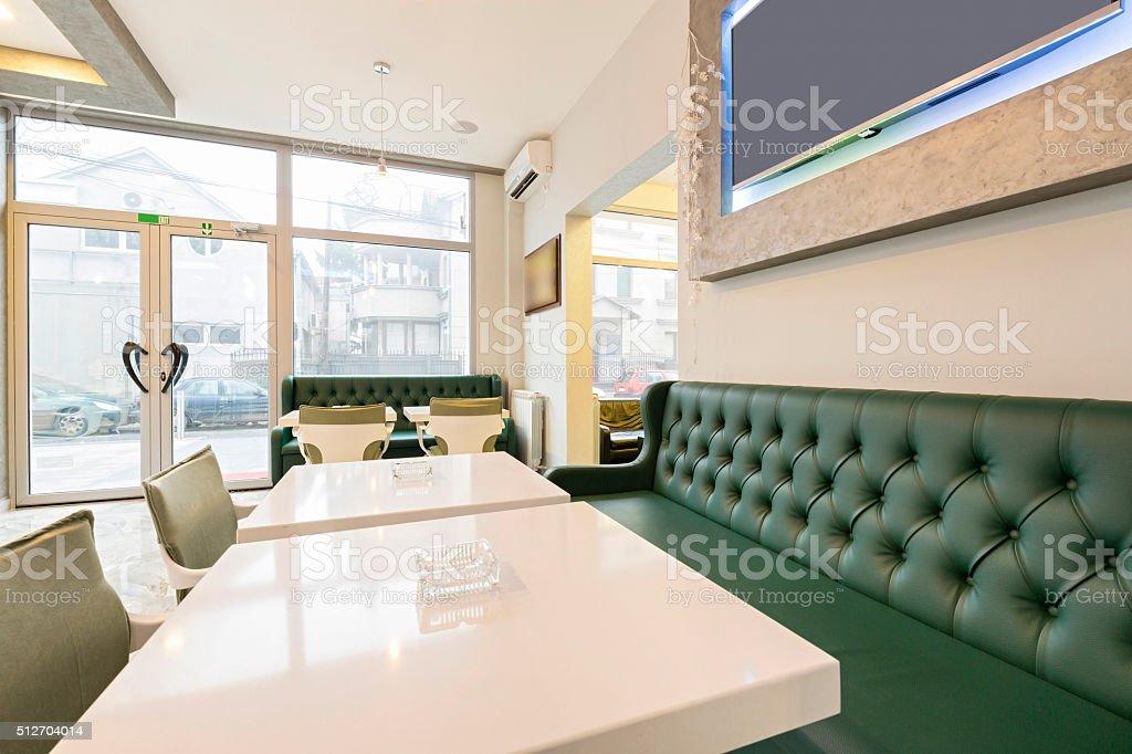 Innenraum Eines Modernen Cafe Stockfoto und mehr Bilder von ...