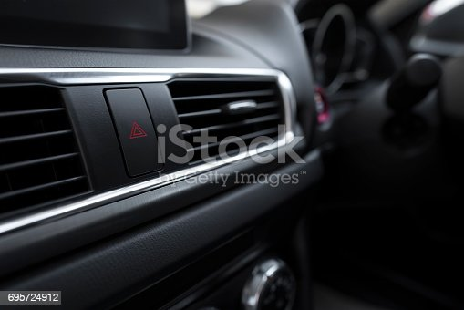 istock Interior of a modern car, Car Air Conditioner 695724912