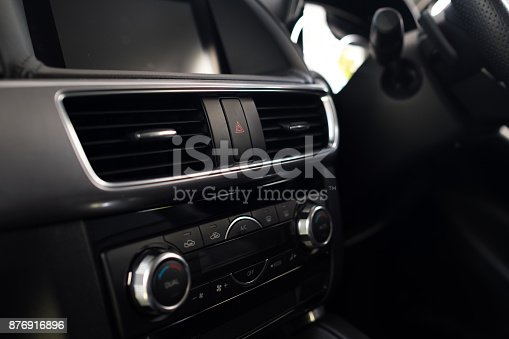 istock Interior of a modern car, Car Air Conditioner 876916896