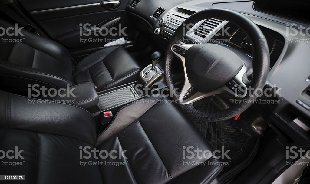 Interior of a modern car royalty-free stock photo