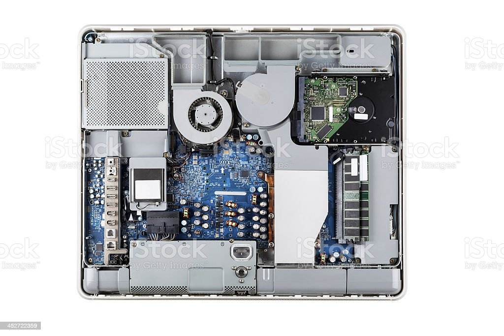 Interior of a modern computer royalty-free stock photo