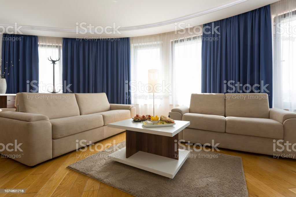 Interior of a modern hotel apartment stock photo