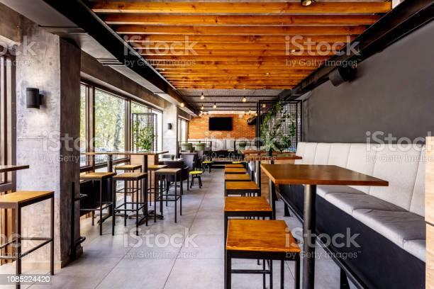 Interior of a modern industrial design pub picture id1085224420?b=1&k=6&m=1085224420&s=612x612&h=qaichlvorg5ulztdr2psq7dswin d0zie35jeefmnmu=