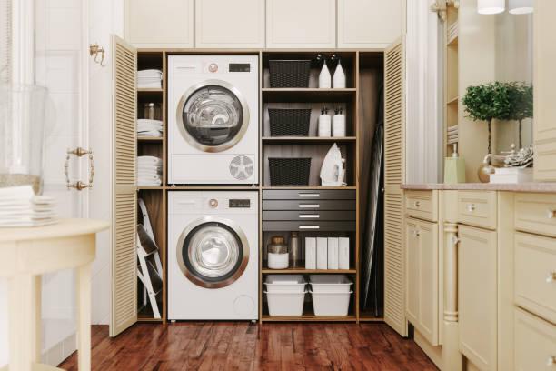 Der Innenraum eines modernen Waschraums – Foto