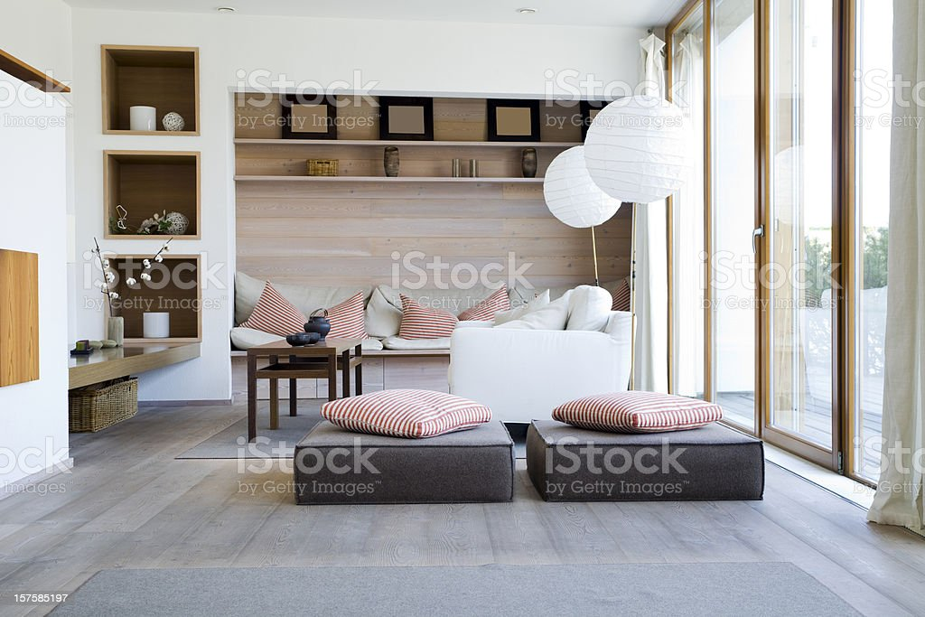 Interior of a Modern Living Room stock photo