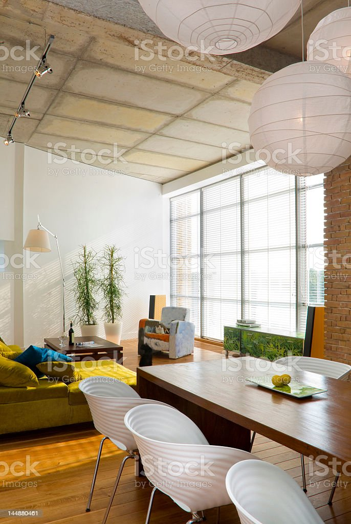 Interior of a modern loft space royalty-free stock photo