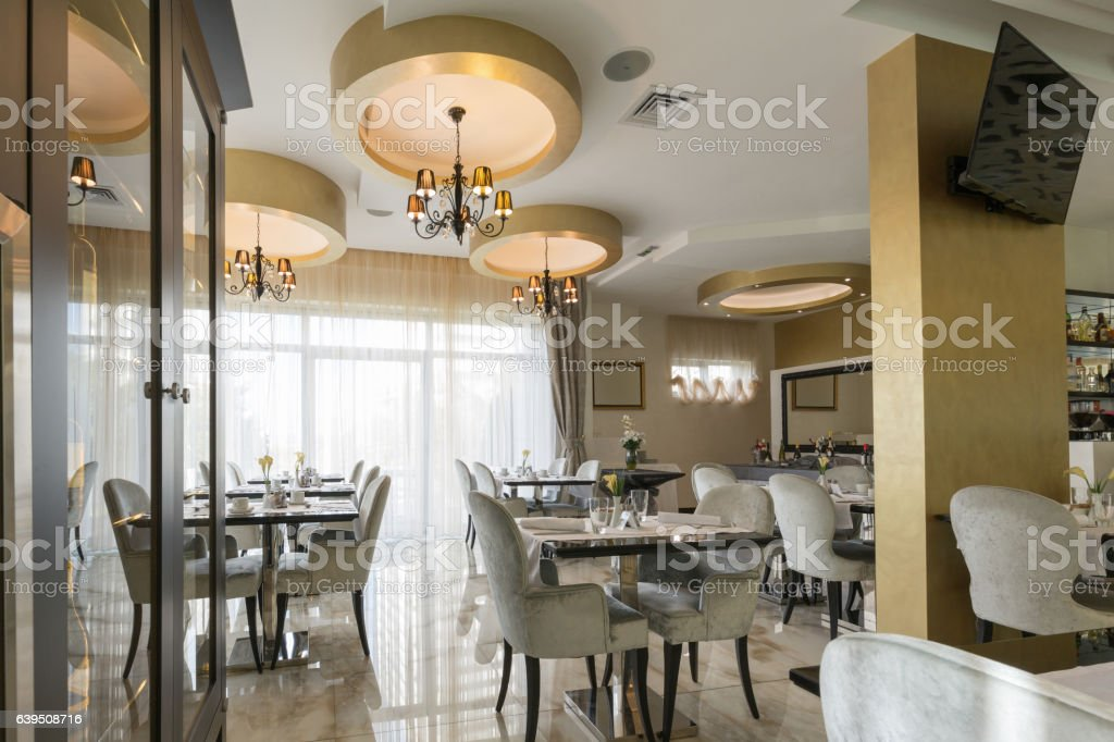 Interior Of A Modern Luxury Hotel Restaurant Stock Photo Download Image Now Istock