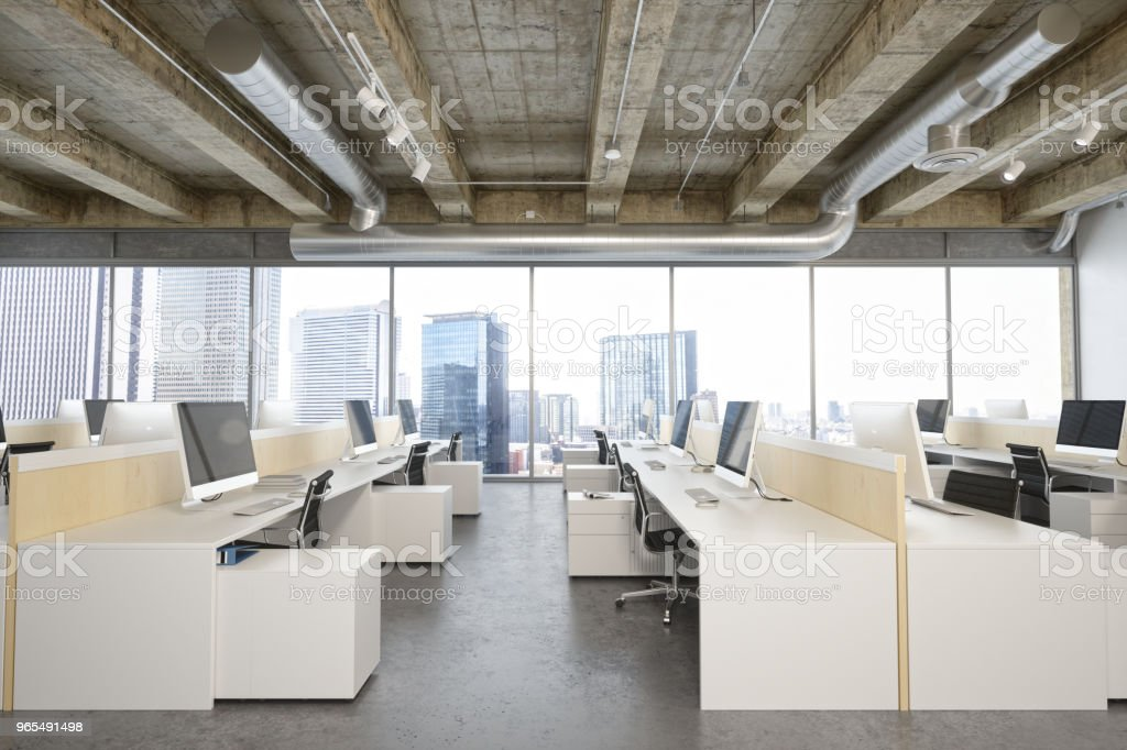Interior Of A Modern Office At Business District royalty-free stock photo