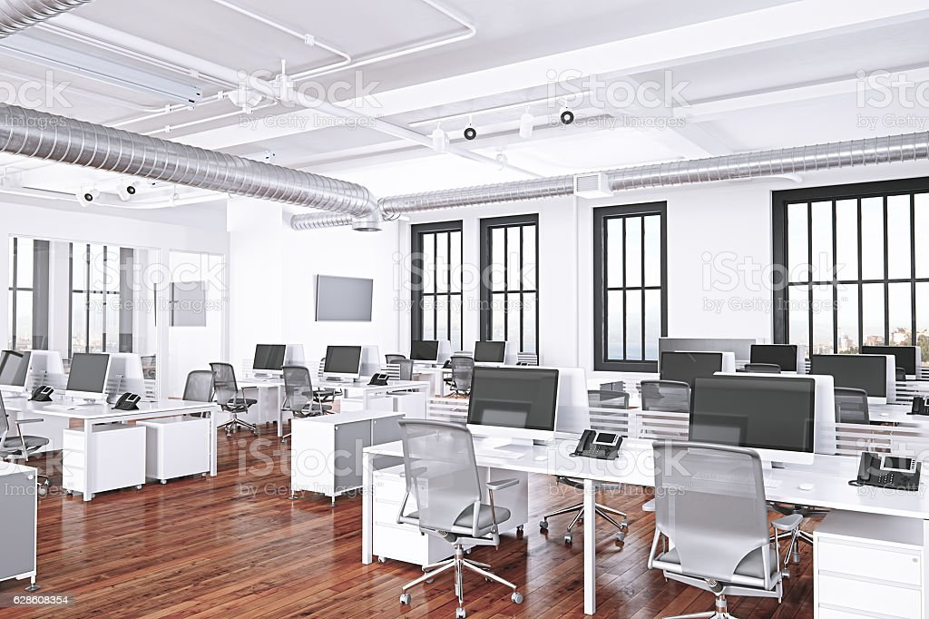 Interior Of A Modern Office Space stock photo
