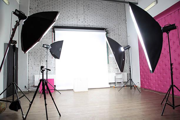 interior of a modern photo studio stock photo