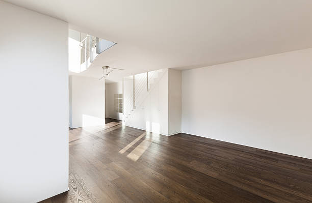 interior of a new apartment stock photo