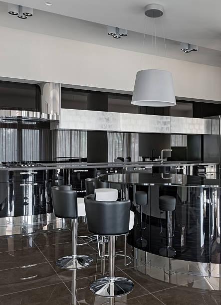 Interior of a new modern luxury kitchen stock photo
