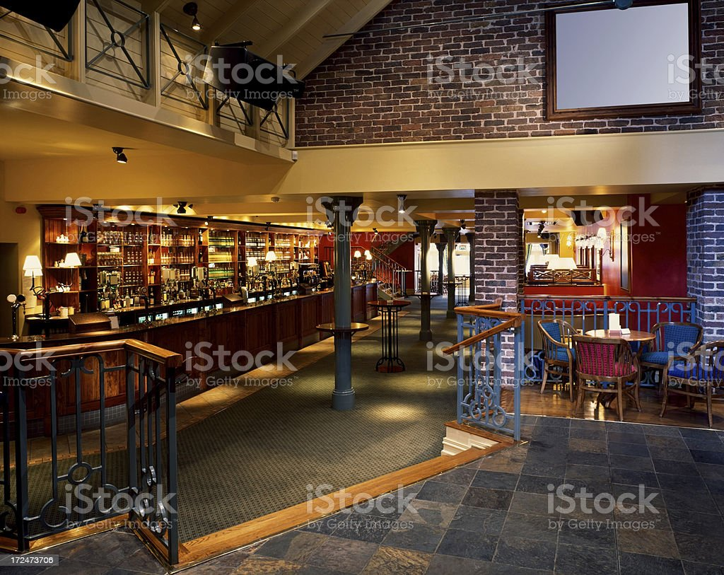 Interior of a night club stock photo