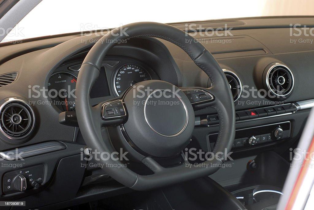 Interior of a passenger car royalty-free stock photo