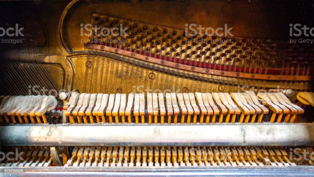Interior of a piano royalty-free stock photo
