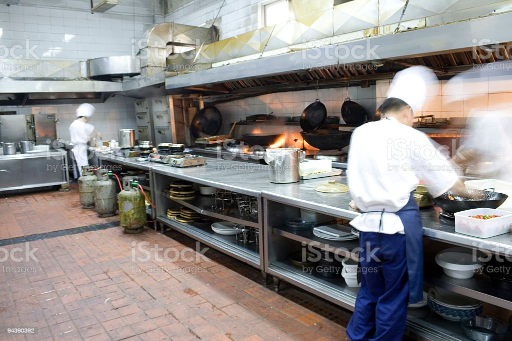 Interior of a restaurant kitchen royalty-free stock photo