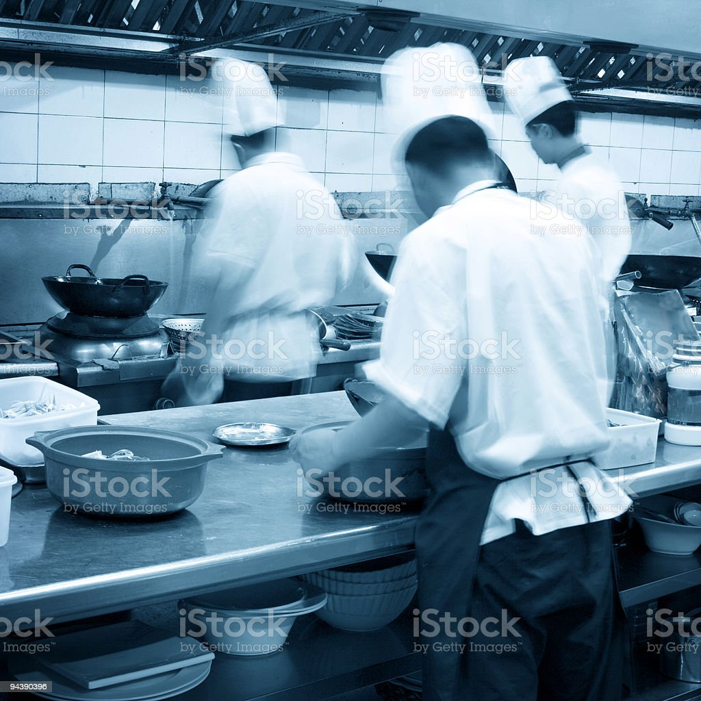 Interior of a restaurant kitchen royalty-free stock photo