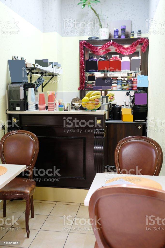 Interior de um restaurante  - foto de acervo