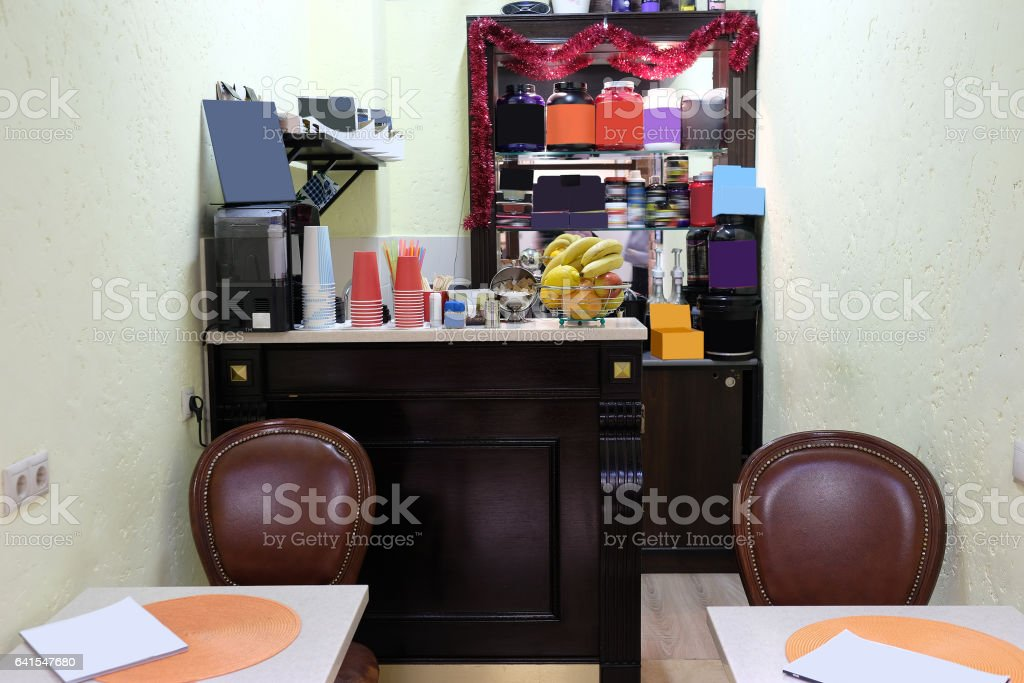 Interior of a restaurant - foto de acervo