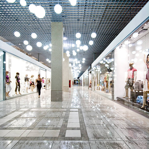 Interior of a shopping mall stock photo