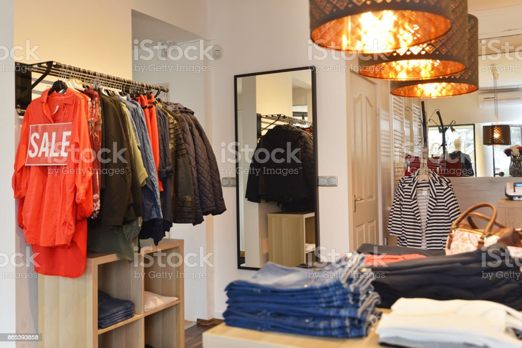Interior Of A Store Selling Womens Clothes And Accessories Stock Photo Download Image Now Istock