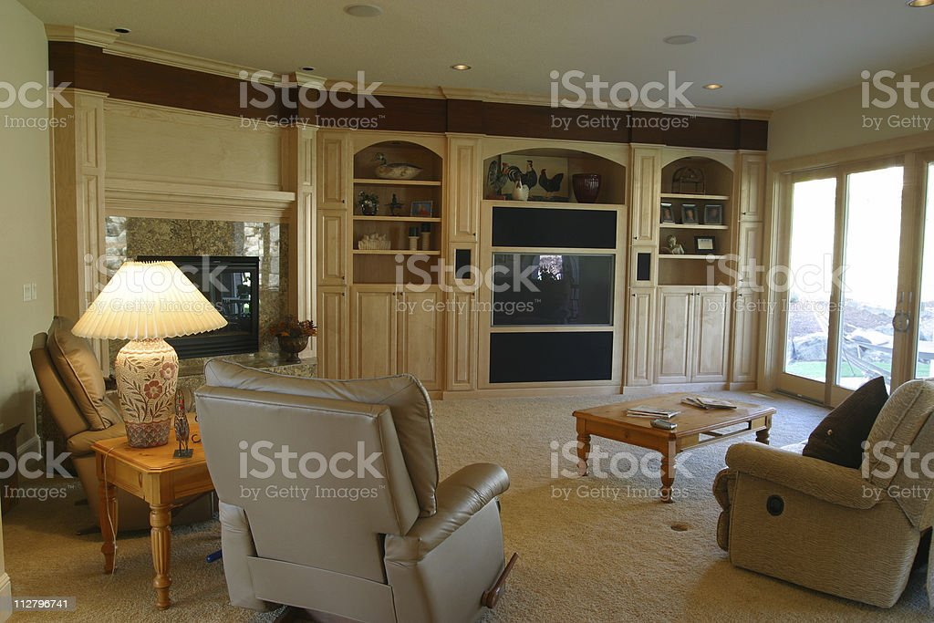 Interior of a stylish furnished living room royalty-free stock photo
